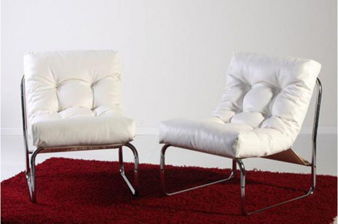 fauteuil design capitonn blanc psy fauteuils design pas cher. Black Bedroom Furniture Sets. Home Design Ideas