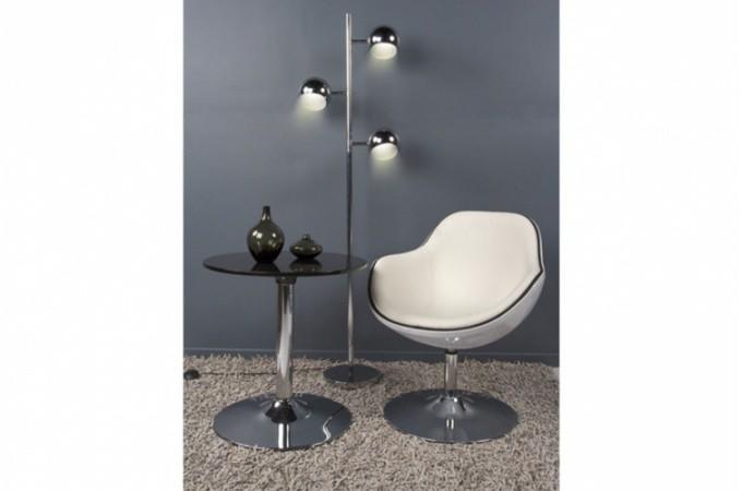 Fauteuil design blanc liser noir simili cuir miami for Imitation meubles design