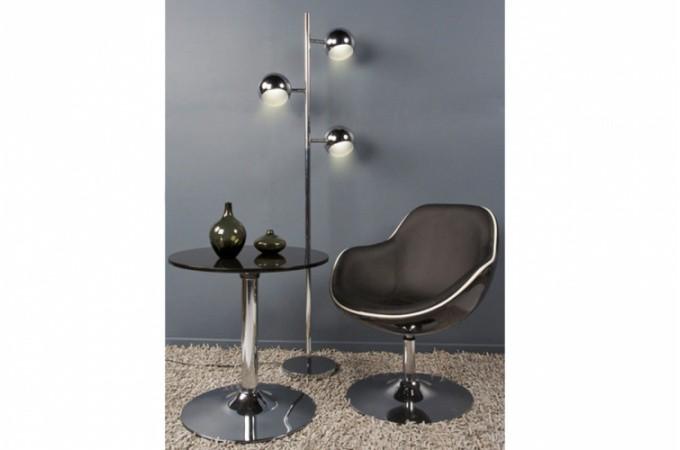 fauteuil design noir liseré blanc simili cuir miami - fauteuils ... - Imitation Meubles Design