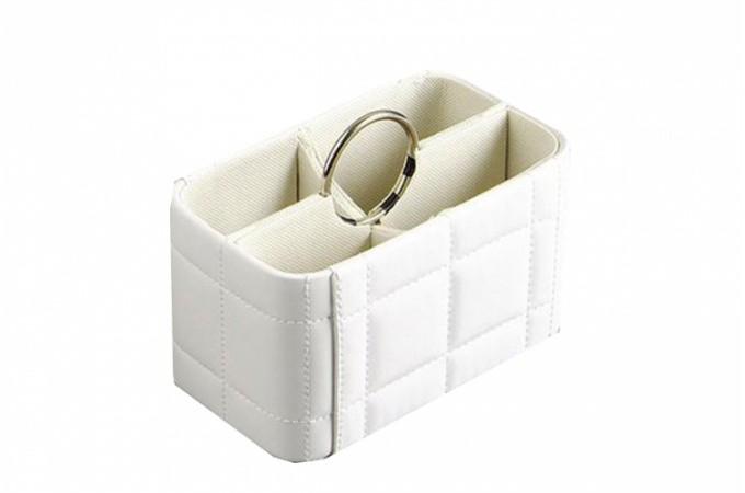range telecommande simili cuir blanc ranges t l commandes pas cher. Black Bedroom Furniture Sets. Home Design Ideas