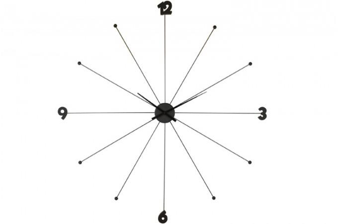 grande horloge design umbrella noir horloges design pas cher. Black Bedroom Furniture Sets. Home Design Ideas