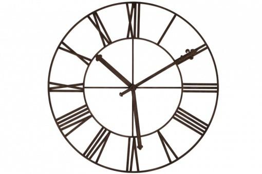 Horloge en fer ira horloge de type industrie declikdeco for Grande horloge murale fer forge