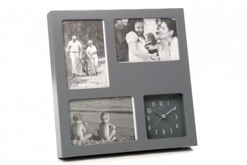 horloge cadre photo en bois pino deco design. Black Bedroom Furniture Sets. Home Design Ideas
