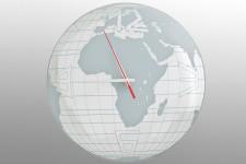 Horloge Kare Design en Métal Mappemonde, deco design