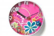 Horloge Design Horloge Kare Design Hippie Rose, deco design