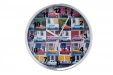 Horloge Design Horloge Murale Kare Design Multicolor Cars, deco design