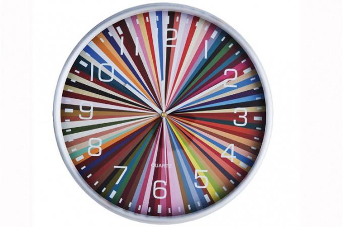 Horloge murale design d form e pendule r veil tableau horloge page 1 for Horloge murale multicolore
