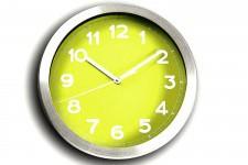 Horloge Design Horloge Murale Verte Et Métal Chromé Peps , deco design
