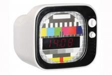 Horloge Design Réveil Téléviseur Kare Design Rétro Blanc, deco design