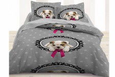 Parure 2 pers. Coton TODAY Enjoy Doggy Love  220 x 240 cm, deco design