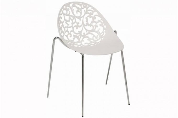 chaise kare design blanche miami chaise design pas cher. Black Bedroom Furniture Sets. Home Design Ideas
