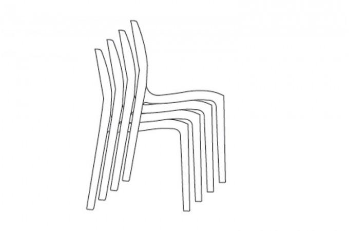 chaise design violet laqu victory chaises pas cher declik deco. Black Bedroom Furniture Sets. Home Design Ideas