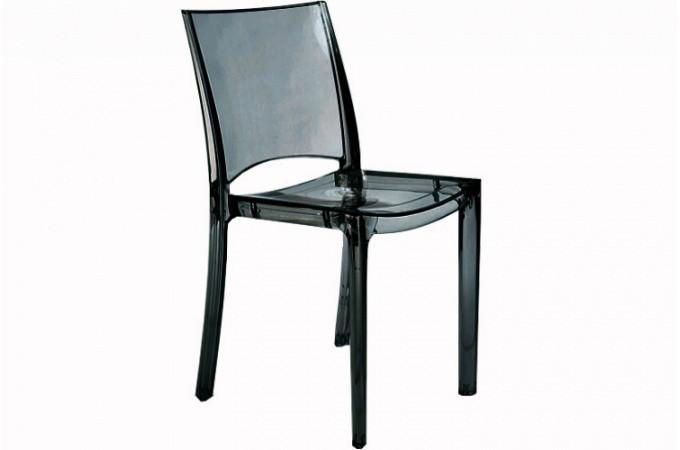 chaise transparente plastique fum crystal chaises pas cher. Black Bedroom Furniture Sets. Home Design Ideas