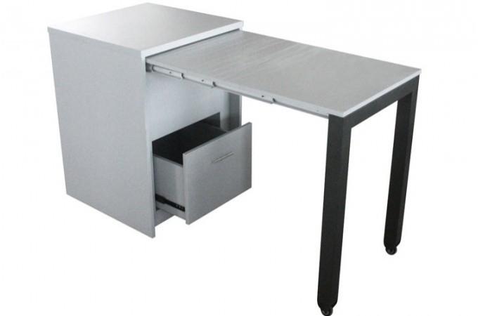 commode transformable en bureau blanc bureau coulissant pratique declikdeco. Black Bedroom Furniture Sets. Home Design Ideas
