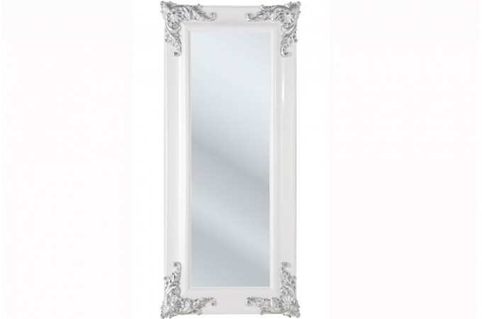Grand miroir baroque blanc for Grand miroir baroque
