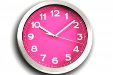 Horloge Design Horloge Murale Fushia Et Métal Chromé Peps , deco design