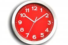 Horloge Design Horloge murale rouge et métal chromé Peps, deco design