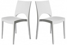 Chaise Design Lot de 2 Chaises design Blanche Venise, deco design