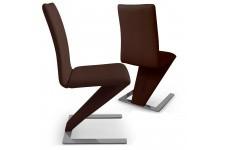Chaise Design Lot de 2 Chaises Design Cuir Choco Cobra , deco design