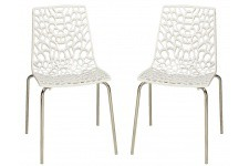Chaise Design Lot de 2 Chaises Blanches Traviata , deco design