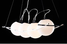 Suspension Design Electra - Suspension blanche design