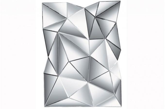 Miroir relief kare design diamond miroir rectangulaire pas cher - Miroir mural design pas cher ...