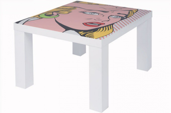 table basse pop art girly table basse pas cher. Black Bedroom Furniture Sets. Home Design Ideas
