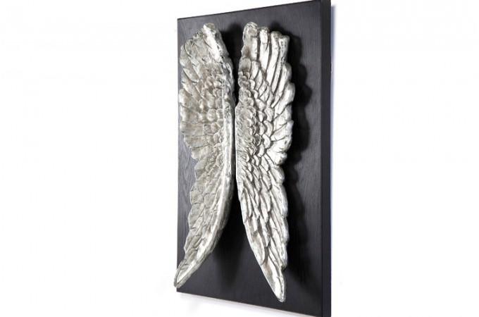 Tableau noir avec ailes gabriel tableau ange atypique tableau pas cher - Tableau mural design pas cher ...