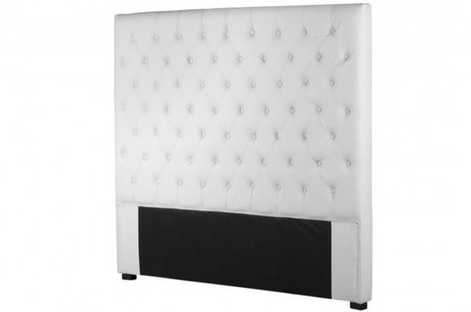 t te de lit capitonn e 140 cm design blanc t tes de lit. Black Bedroom Furniture Sets. Home Design Ideas