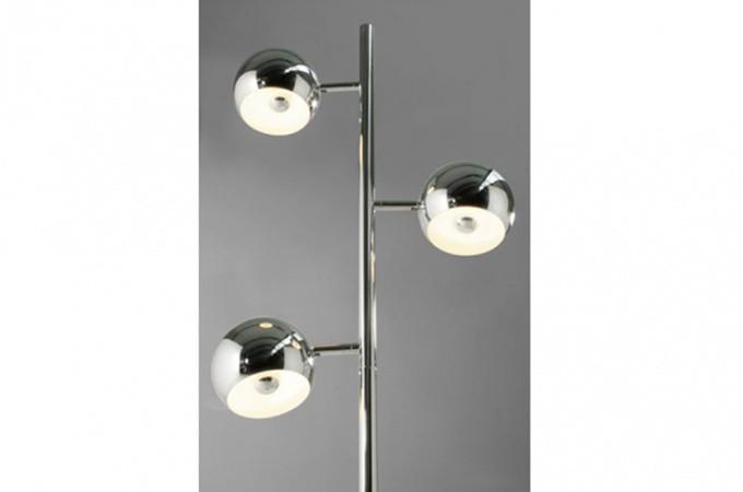 Lampe 3 boule chrom e luminaire design pas cher - Lampadaire boule chrome ...
