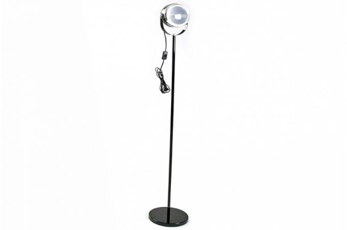 lampadaire projecteur design m tal chrom noire 150 cm. Black Bedroom Furniture Sets. Home Design Ideas