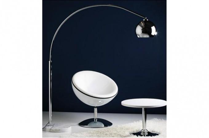Populaire Lampe Arc en métal chromé Xl : Lampadaire arc style retro  IL18