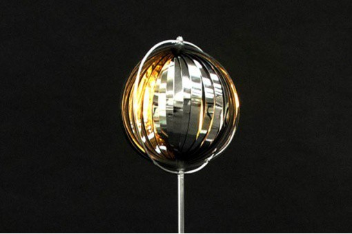 Lampadaire Design Chrome Meteor