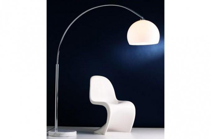 lampe arc design blanc small lampadaires pas cher. Black Bedroom Furniture Sets. Home Design Ideas