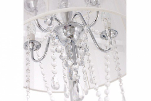 Lampe Baroque avec Pampille Blanc