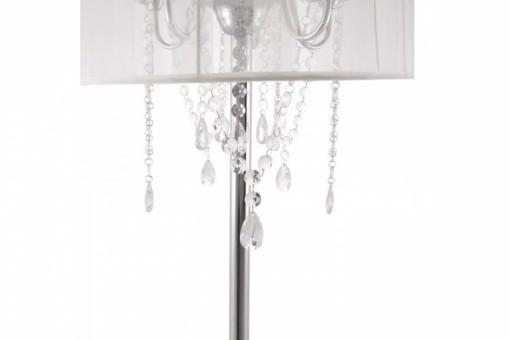 lampe baroque avec pampille blanc lampadaires pas cher. Black Bedroom Furniture Sets. Home Design Ideas