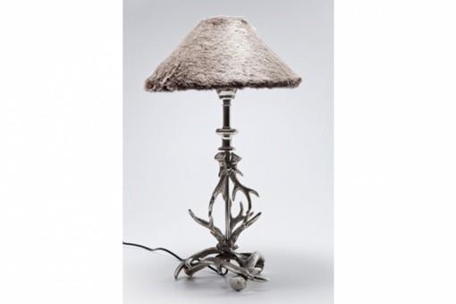 lampe poser kare design avec abat jour fourrure deco design kare design. Black Bedroom Furniture Sets. Home Design Ideas