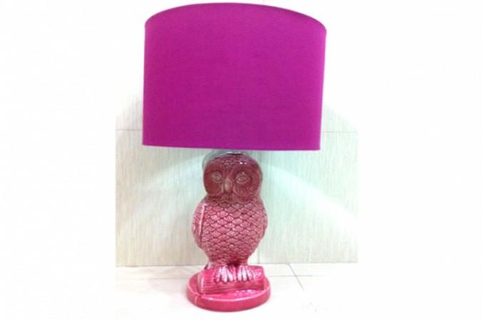 Lampe poser rose hibou lampes poser pas cher declik deco for Lampe a poser rose