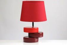 Lampe à Poser Lampe à Poser Socle Décalé Rouge, deco design