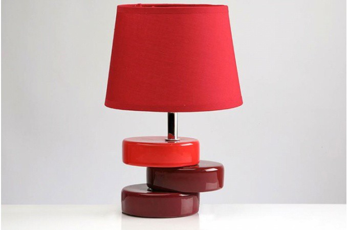 lampe poser socle d cal rouge lampes poser pas cher. Black Bedroom Furniture Sets. Home Design Ideas