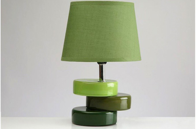 lampe poser c ramique verte pas ch re. Black Bedroom Furniture Sets. Home Design Ideas