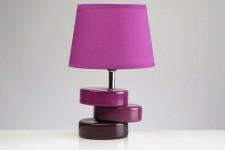 Lampe à Poser Lampe à poser socle décalé violet, deco design