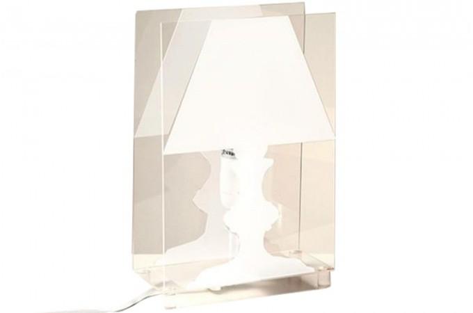 Lampe poser design lampe de table fluo ou zen lampe for Lampe a poser transparente