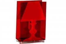 Lampe à Poser Lampe à Poser Transparente Rouge Patty , deco design
