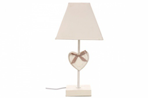 Beautiful lampe abat jour coeur romantica lampes poser pas for Demi abat jour mural