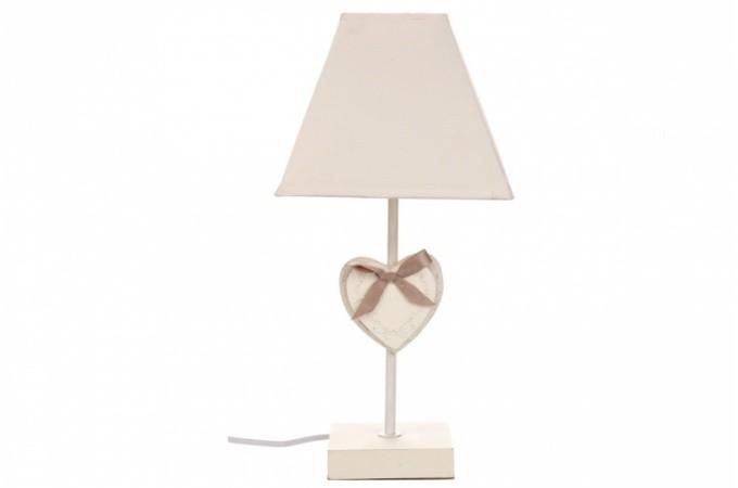 Lampe abat jour coeur romantica lampes poser pas cher for Lampe de chevet romantique