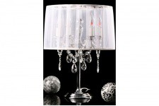 Lampe Baroque Pm Blanc - Lampe a poser blanche