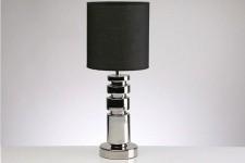 Lampe à Poser Lampe design en céramique noir et argent Bahia, deco design