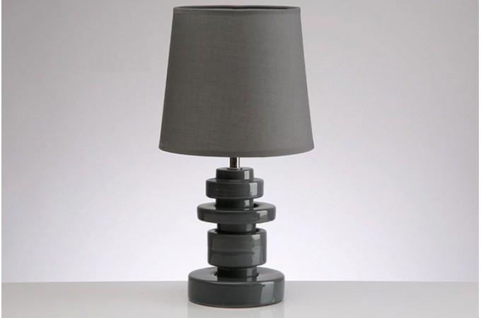 Lampe en c ramique grise tania lampes poser pas cher for Lampe a poser grise