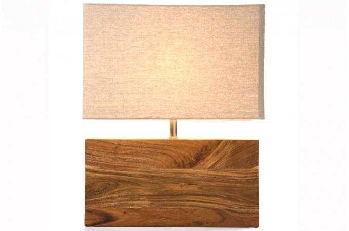 lampe de table en bois lampe poser pas cher. Black Bedroom Furniture Sets. Home Design Ideas